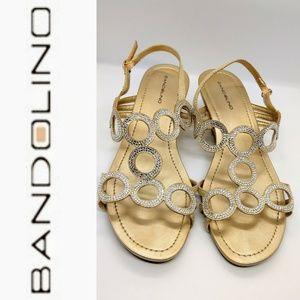 Bandolino Sexy Gold & Silver Sandals Size 9M